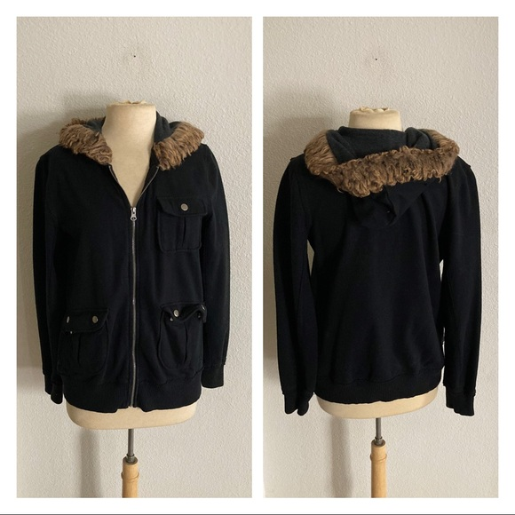 Mossimo Supply Co. Jackets & Blazers - ⭐️CLOSET CLOSING Mossimo WAS $15 faux fur hoodie